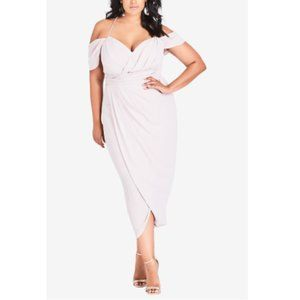 City Chic White Entwine Maxi Dress